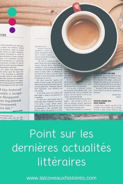 """Pin : """"Point sur les dernières actualités littéraire"""""""