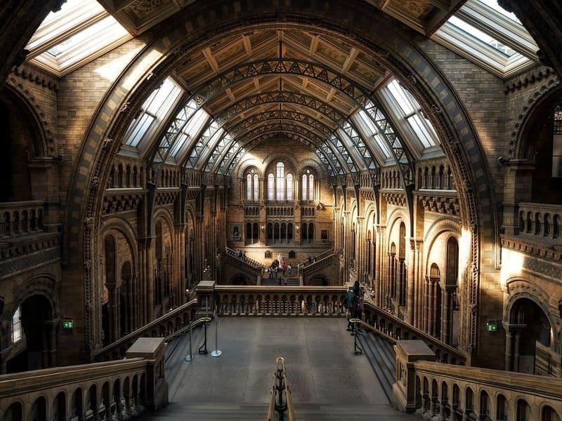 Photo intérieur d'un musée de Londres