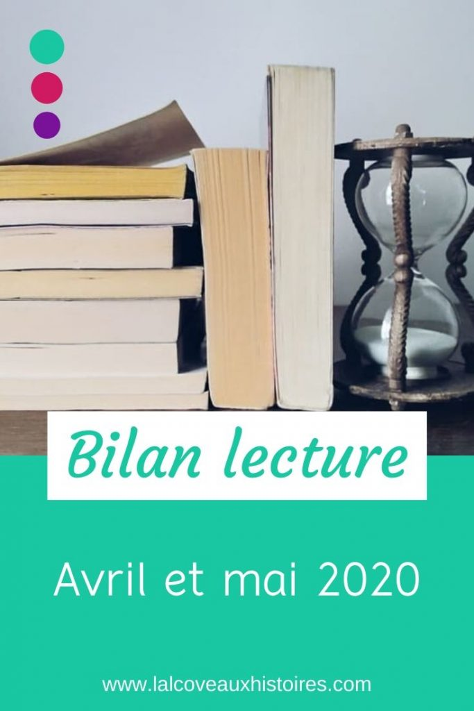 Epingle Pinterest : Bilan lecture - avril et mai 2020.