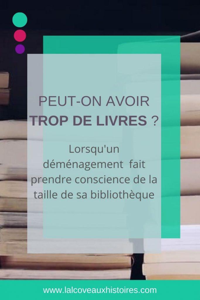 """Epingle Pinterest : """"Peut-on avoir trop de livres ? - Lorsqu'un déménagement fait prendre conscience de la taille de sa bibliothèque""""."""