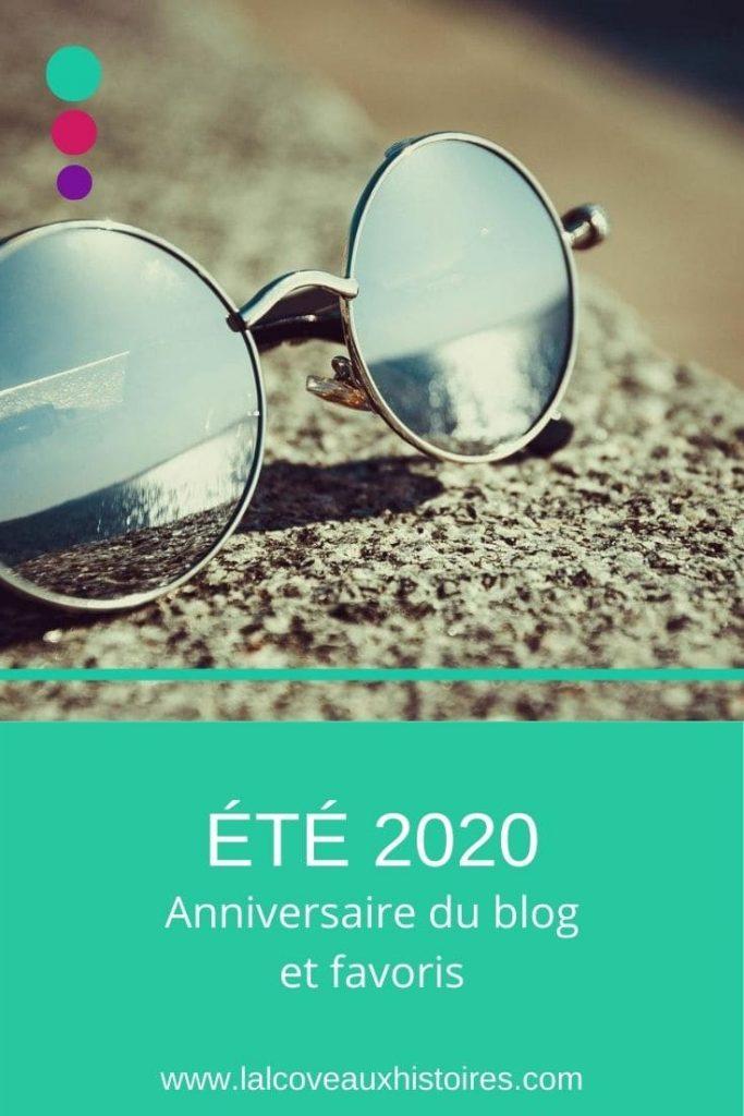 Epingle Pinterest : été 2020 - anniversaire du blog et favoris.